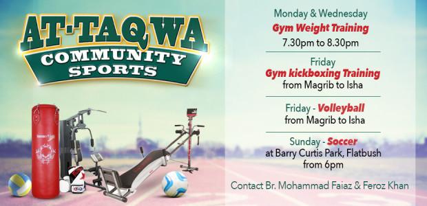 At-Taqwa Community Sports slider