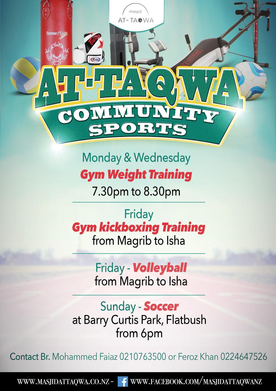 At-Taqwa Community Sports flyer