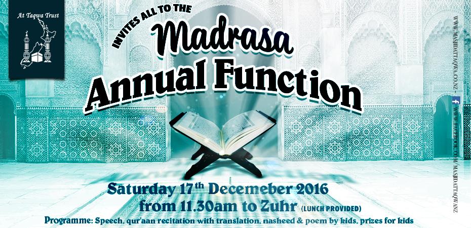Madrasah Annual Function 2016