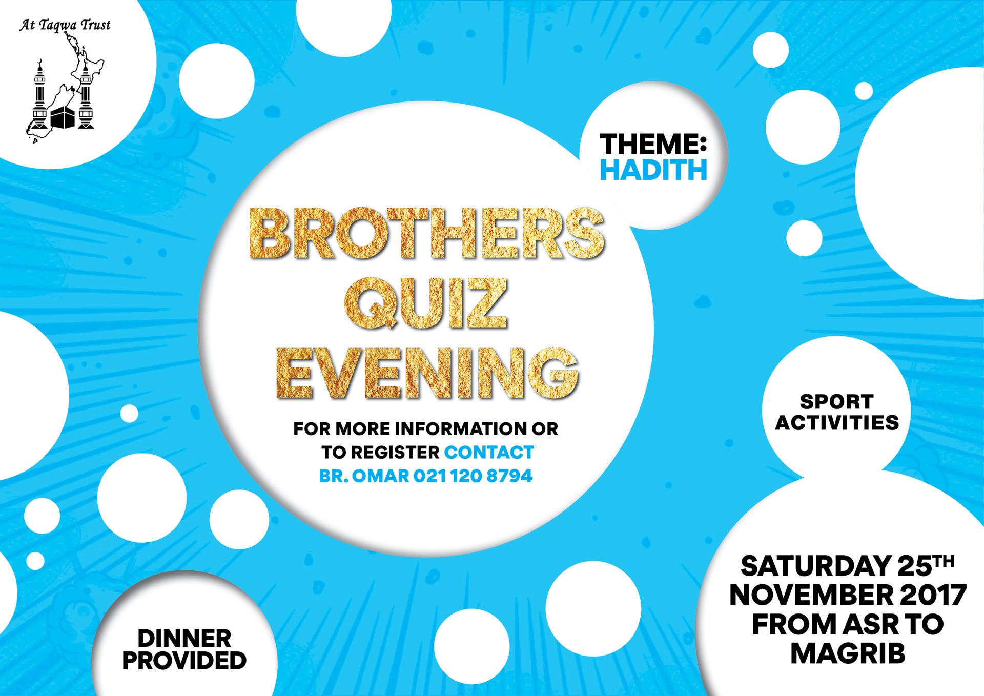 Brothers' Quiz Evening