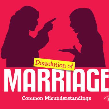 Dissolution of Marriage: Common Misunderstandings - slider image