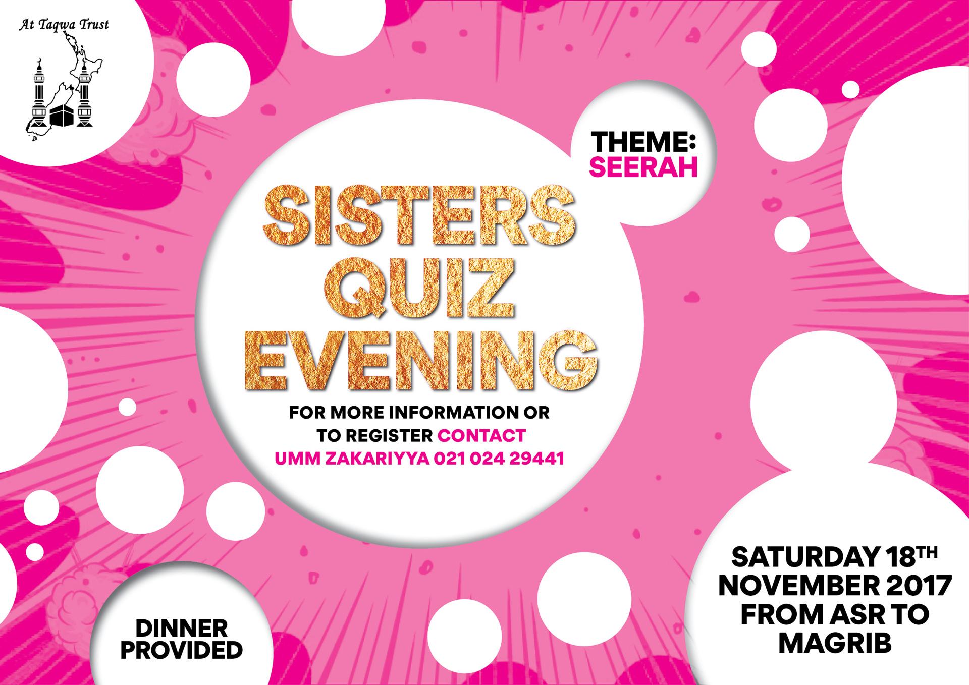 Sisters' Quiz Evening