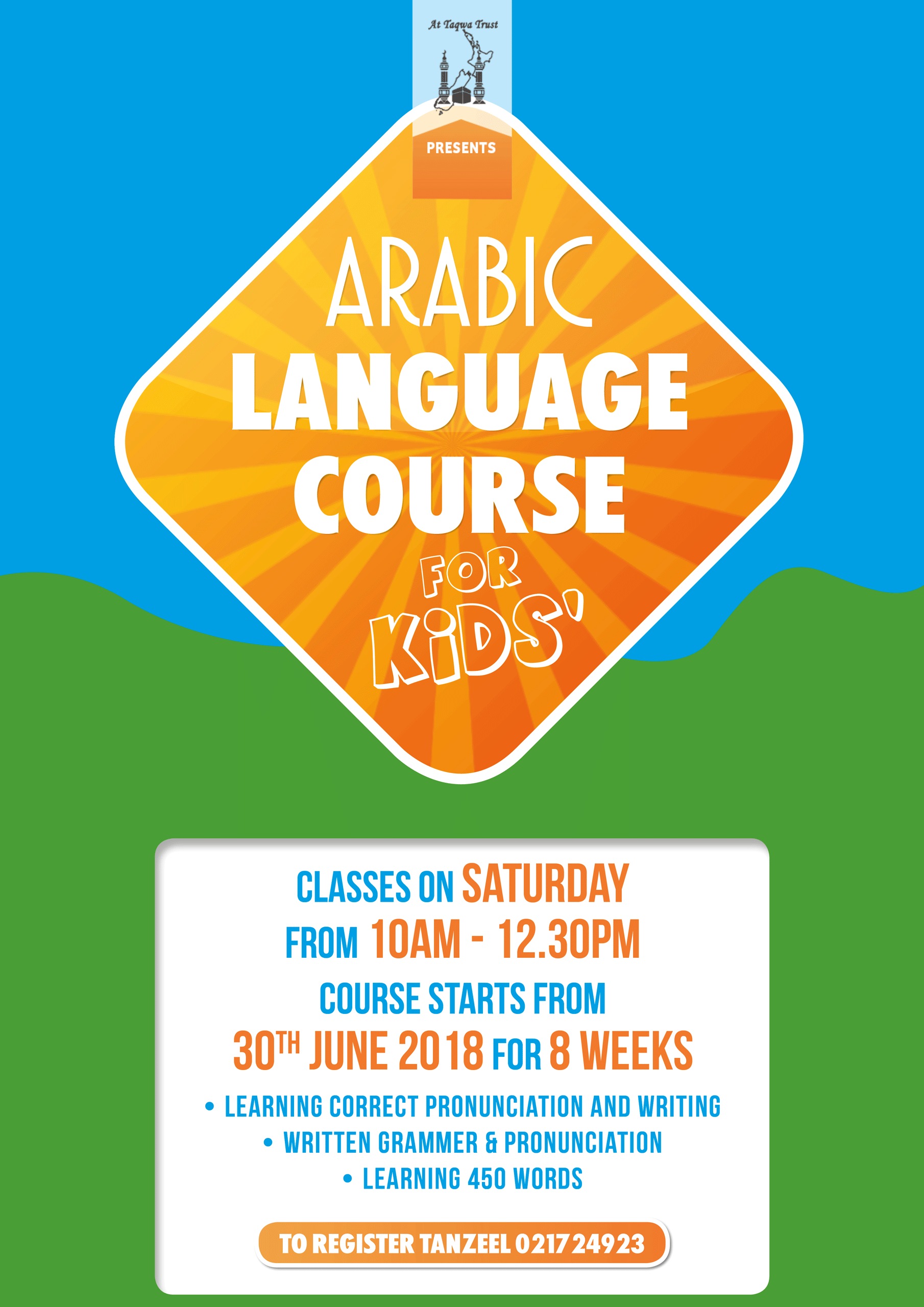 Arabic Language Course for Kids! | Masjid at-Taqwa, Auckland